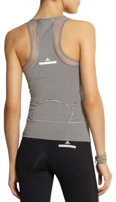 Item - Gray Mesh Athletic Activewear Top Size 6 (S)