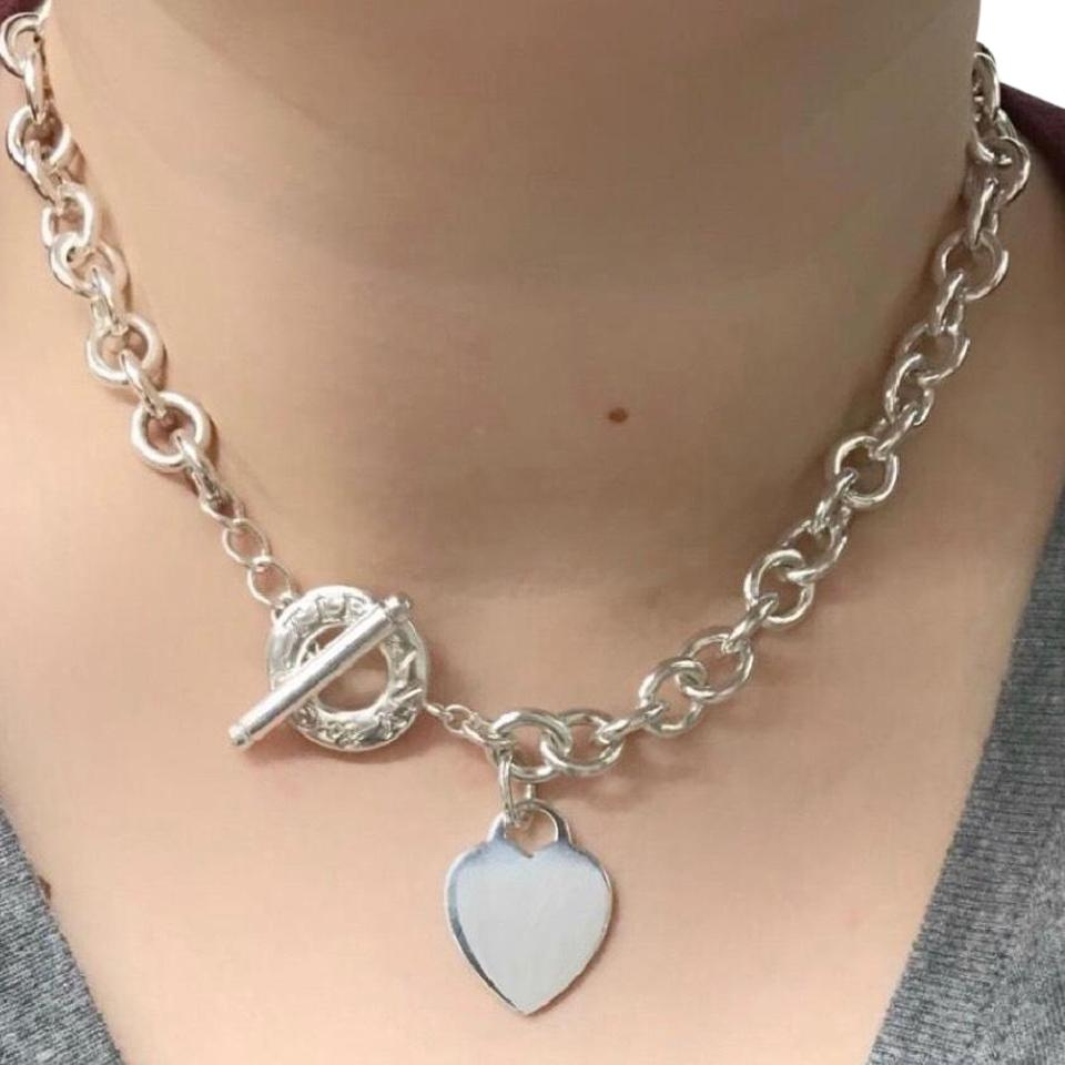 """c8615734d Tiffany & Co. Heart Toggle Sterling Silver 20"""" Guaranteed Necklace ..."""