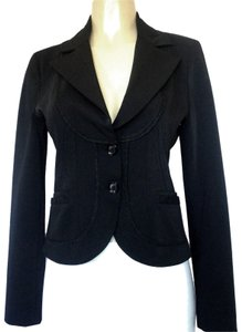 Annarita N Jacket Fitted Notch Lapel black Blazer