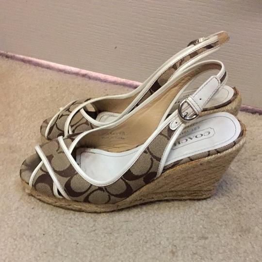 Coach White/tan Sandals