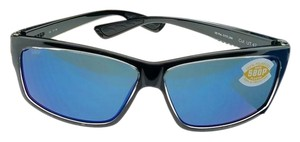 001f63673afd Costa Del Mar UT47-OBMP Men's Black Frame Blue Lens Polarized Sunglasses