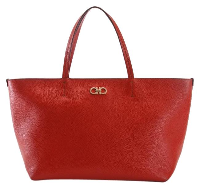 Item - Icona Bice Pebbled (Rosso) Red/Rosso Leather Tote