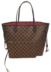 Louis Vuitton Neverfull Neverfull With Pouch Neverfull Mm Neverfu Neverfull Mm De Tote in Damier Ebene