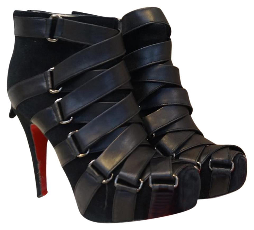newest 6add3 5c6cc Christian Louboutin Nitoinimoi Bandage 120mm Ankle 36.1/2 Boots/Booties  Size EU 36.5 (Approx. US 6.5) Regular (M, B) 83% off retail