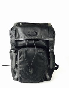 8e0a659c250 Added to Shopping Bag. Gucci Men s Nylon Backpack. Gucci Drawstring W Black  Leather ...