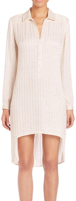 Item - Cream Beaded Long Sleeve Night Out Dress Size 2 (XS)
