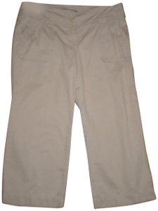 To The Max Four Pockets Cotton Capri/Cropped Pants Beige
