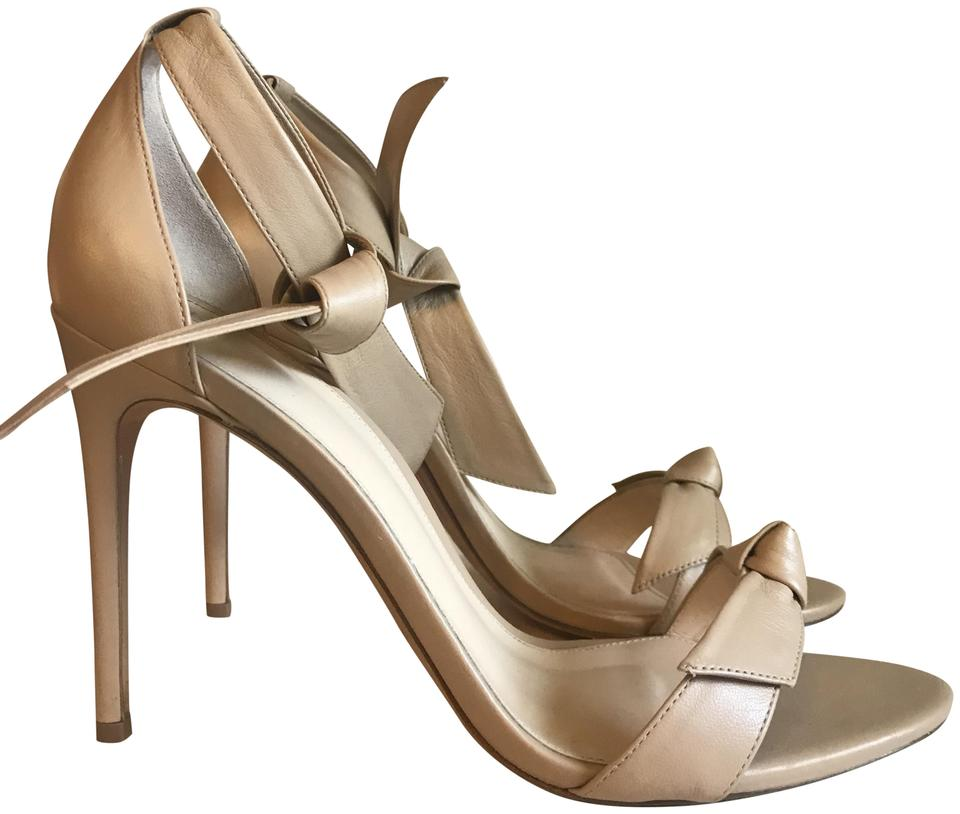 Alexandre Birman Beige Nude Bow-tie Sandals Leather Sandals Bow-tie daedc3