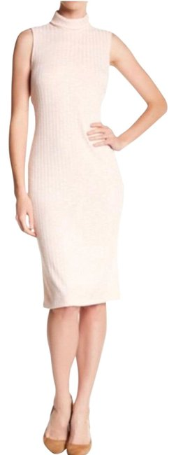 Item - Stretch Ribbed Texture Mock Neck Mid-length Night Out Dress Size 16 (XL, Plus 0x)