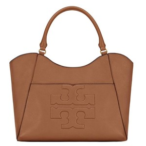 Tory Burch Summer Large Logo Tote in Tan NWT Brown