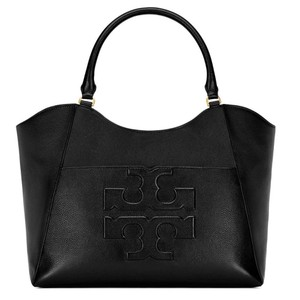 Tory Burch Summer Large Logo Tote in Black NWT