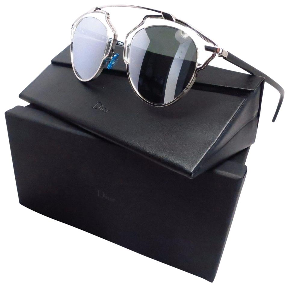 ab742cc63bc8 Dior Christian Dior So Real APPDC Palladium Silver Mirrored Sunglasses  Image 0 ...
