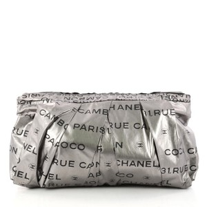 Chanel Nylon silver and black Clutch