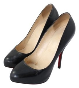 Christian Louboutin Heel Pump Leather Black Pumps