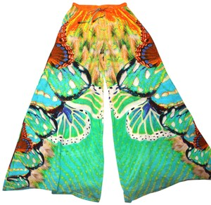 Shahida Parides Wide Leg Pants Green & orange