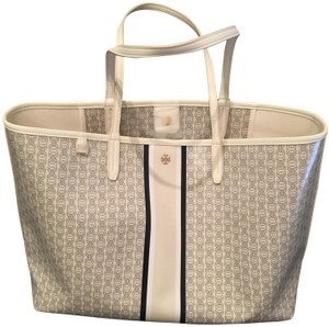 Tory Burch Summer Workbag Tote in New Ivory Gemini Link Stripe