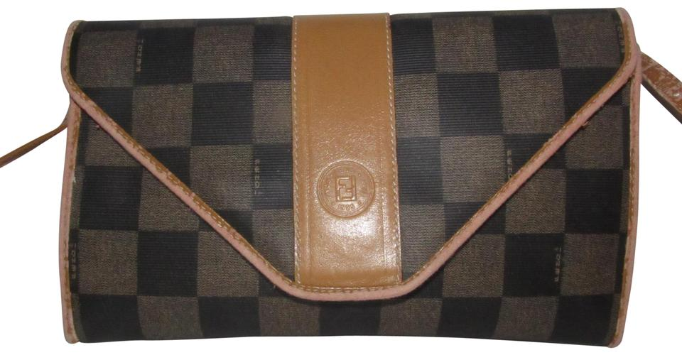 8f3712b8e6fb Fendi Two Way Style Bag Clutch  regimental  Line Excellent Vintage Early  Style Shoulder ...