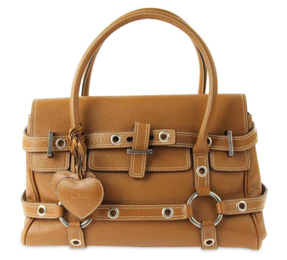 c0f22eb11bcc Luella Gisele Brown Leather Satchel - Tradesy