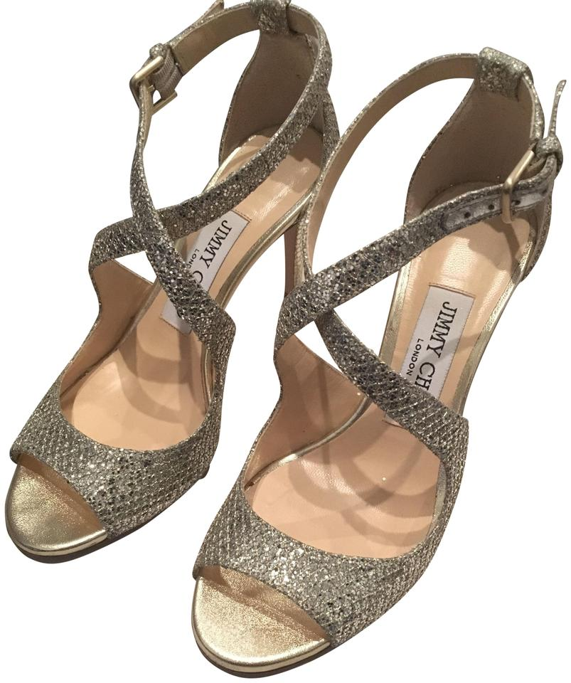0f2e2b2091e Jimmy Choo Sparkly Celebration Heels Summer Champagne Formal Image 0 ...