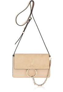 Chloé Faye Shoulder Goldtone Suede Cross Body Bag