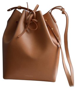 Mansur Gavriel Bucket Leather Tan Silver Hobo Bag