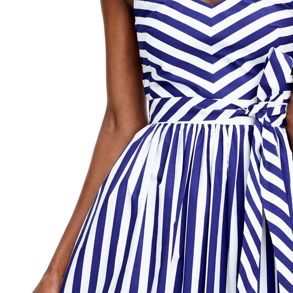 5a11bfdd340 J.Crew Blue and White Striped Ruffle Long Casual Maxi Dress Size 2 ...
