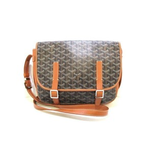 Goyard St. Louis Tote Crossbody Coated Canvas Black Messenger Bag