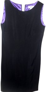 Lord and Taylor Preppy Classic Traditional Purple Solid Dress