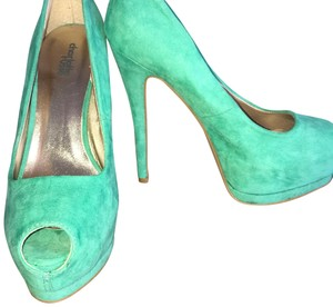 Charlotte Russe teal Pumps