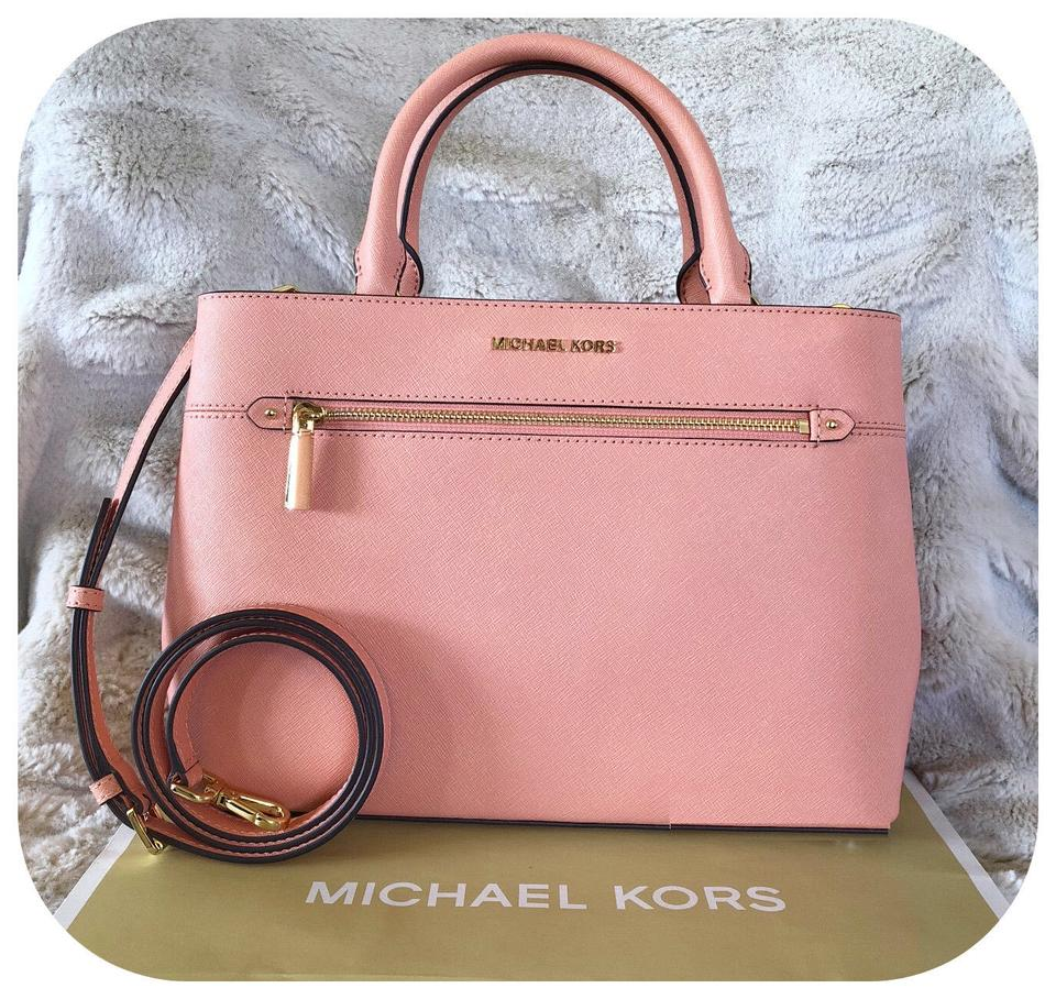 f3aa5f861c88 Michael Kors Set Of 2 Items Handbag And Wallet Hailee Trifold Wallet Satchel  in MULTICOLOR peach ...