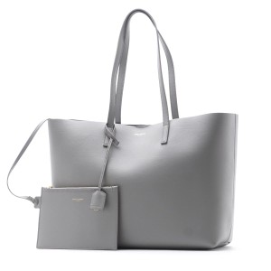Saint Laurent East-west Shopping Monogram Tote in Oyster Grey