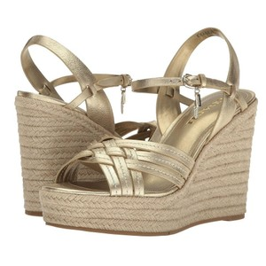 Coach Espadrille Gold black and Wedges