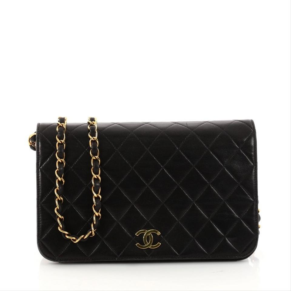 930c098f1776 Chanel Classic Flap Vintage 3 Way Full Quilted Small Black Lambskin ...