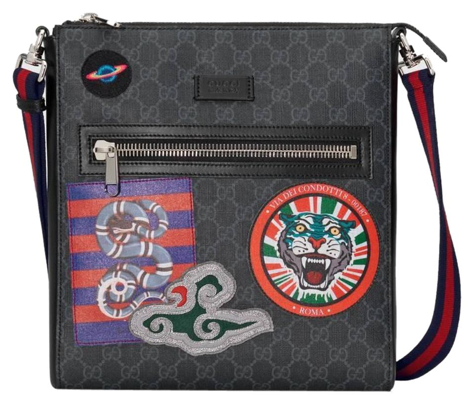 bb957a475df Gucci Night Courrier Patches Gg Canvas Supreme black multi Messenger Bag  Image 0 ...