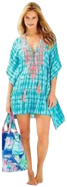 Item - Blue Pink Capri Teal Glass Bottom Tullie Cover-up/Sarong Size 00 (XXS)