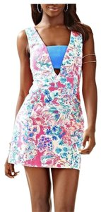 Lilly Pulitzer Bandeau Mini Cut-out Sleeveless Shift Dress
