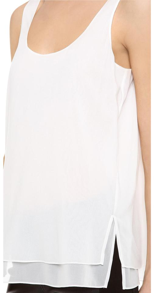 fd7c7aa4087dc3 Vince Off White Silk Scoop Neck Tank Top Cami Size 12 (L) - Tradesy