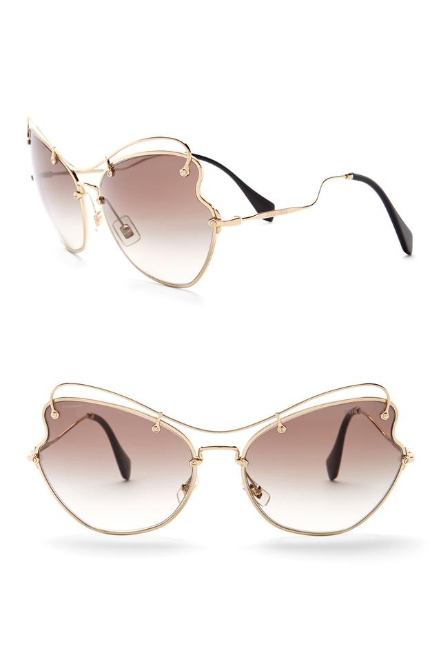 a489b660e4af Miu Miu Gold Rose Lenses Stunning Women s 56rs Sunglasses - Tradesy