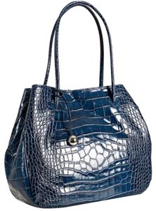 Furla Extra Large Croc Tote in Blue