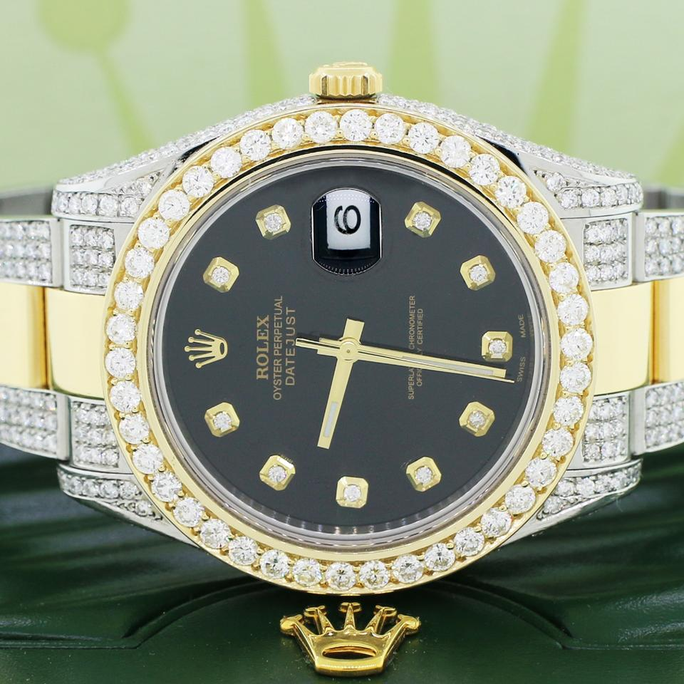 Rolex Datejust Ii 2 Tone 41mm W Diamond Bezel Bracelet Case Box Papers Watch