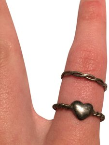 Claire's heart twist weave ring sterling silver