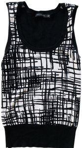 The Limited Vest Layering Top black and white