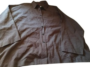 Blanque Button Down Shirt Taupe brown