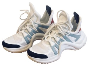 Louis Vuitton Archlight Sneaker Dad Sneaker White, Light Blue, Red, Black Athletic