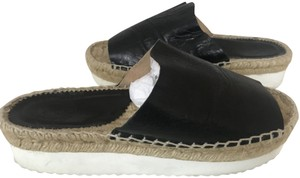 Penelope Chilvers Wedge Espadrille Bow Mule black Platforms
