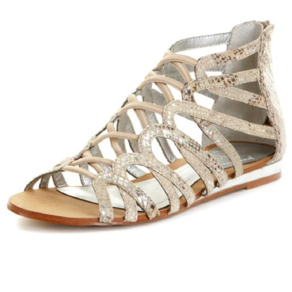 BCBGeneration Tan & Sandals Silver Gold Rush Python Sandals & 75479d