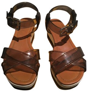 Fendi Brown, Clear, White and Black Sandals