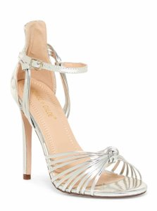 Chase & Chloe Silver Gigi Strappy Sandals Size US 7 Regular (M, B)