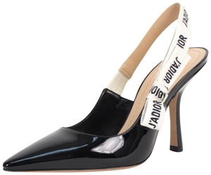 Dior Slingback Leather Black Pumps