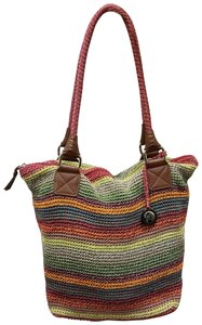 The Sak Woven Travel Handbag Tote in Multi-Color